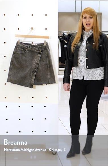 Parker Wrap Denim Miniskirt, sales video thumbnail