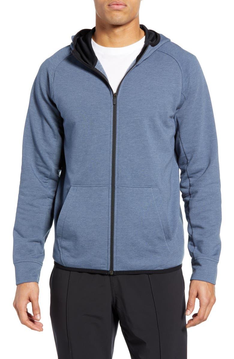 ZELLA Zip Fleece Hoodie, Main, color, 420