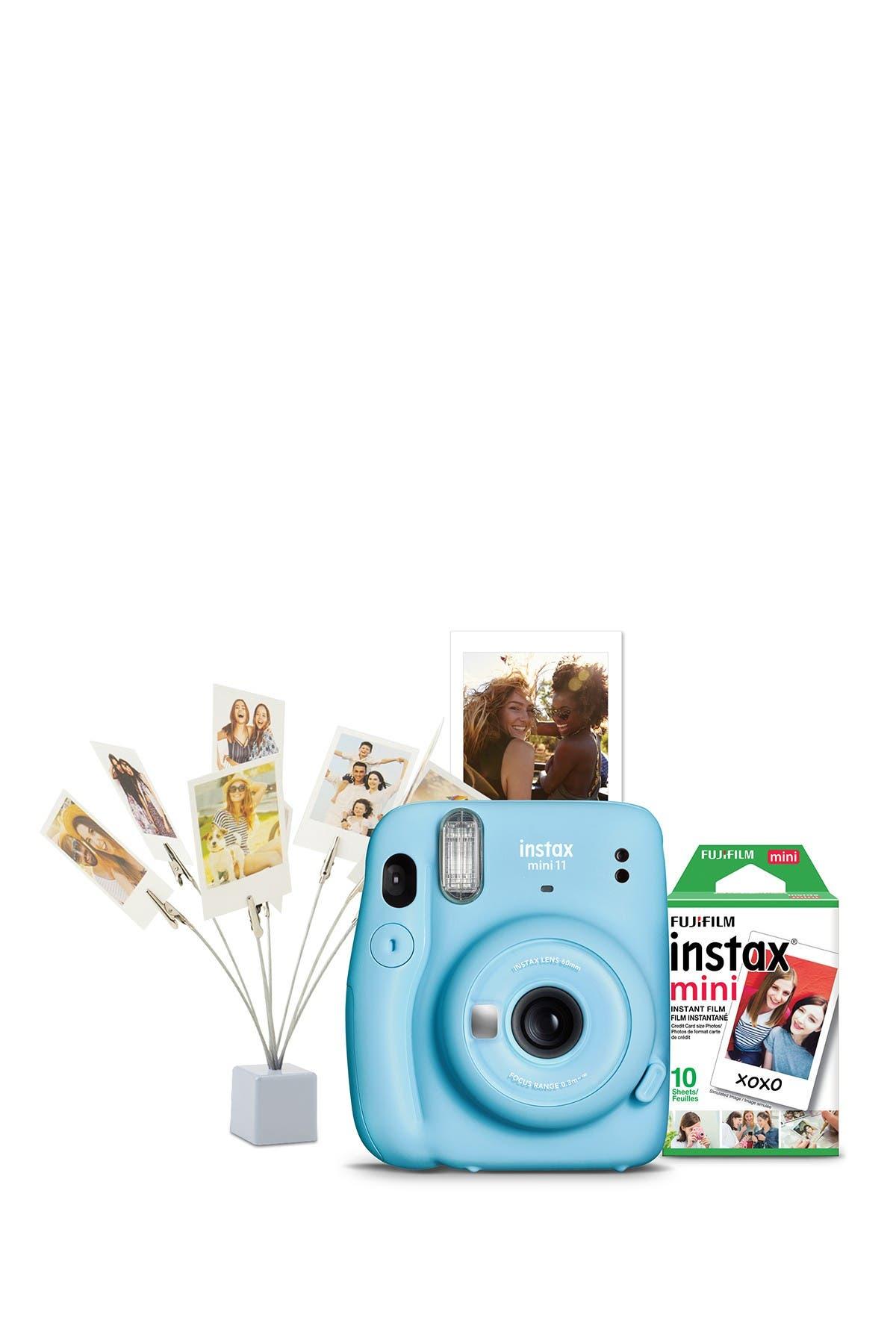Image of INSTAX MINI BY FUJIFILM Fujifilm Instax Mini 11 Camera Bundle - Sky Blue