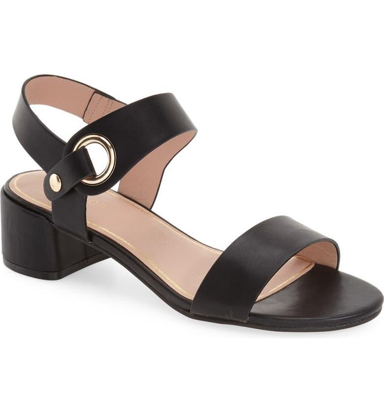 TOPSHOP 'Dart' Block Heel Sandal, Main, color, 001