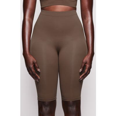 Plus Size Skims Sculpting Seamless Above The Knee Shorts, X/3X - Brown