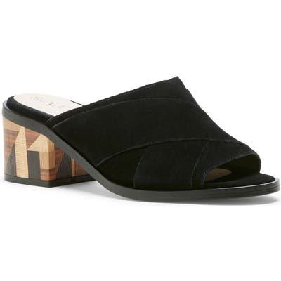 Sole Society Tota Slide Sandal, Black