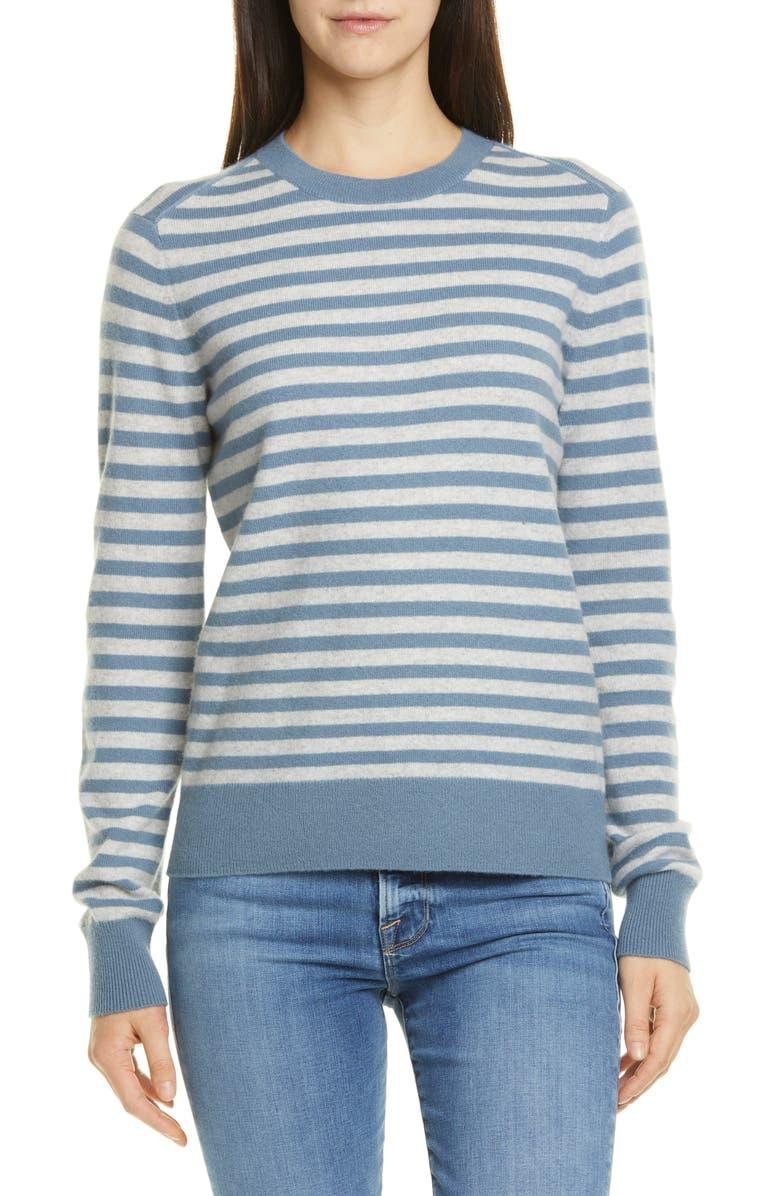VINCE Stripe Cashmere Sweater, Main, color, 468