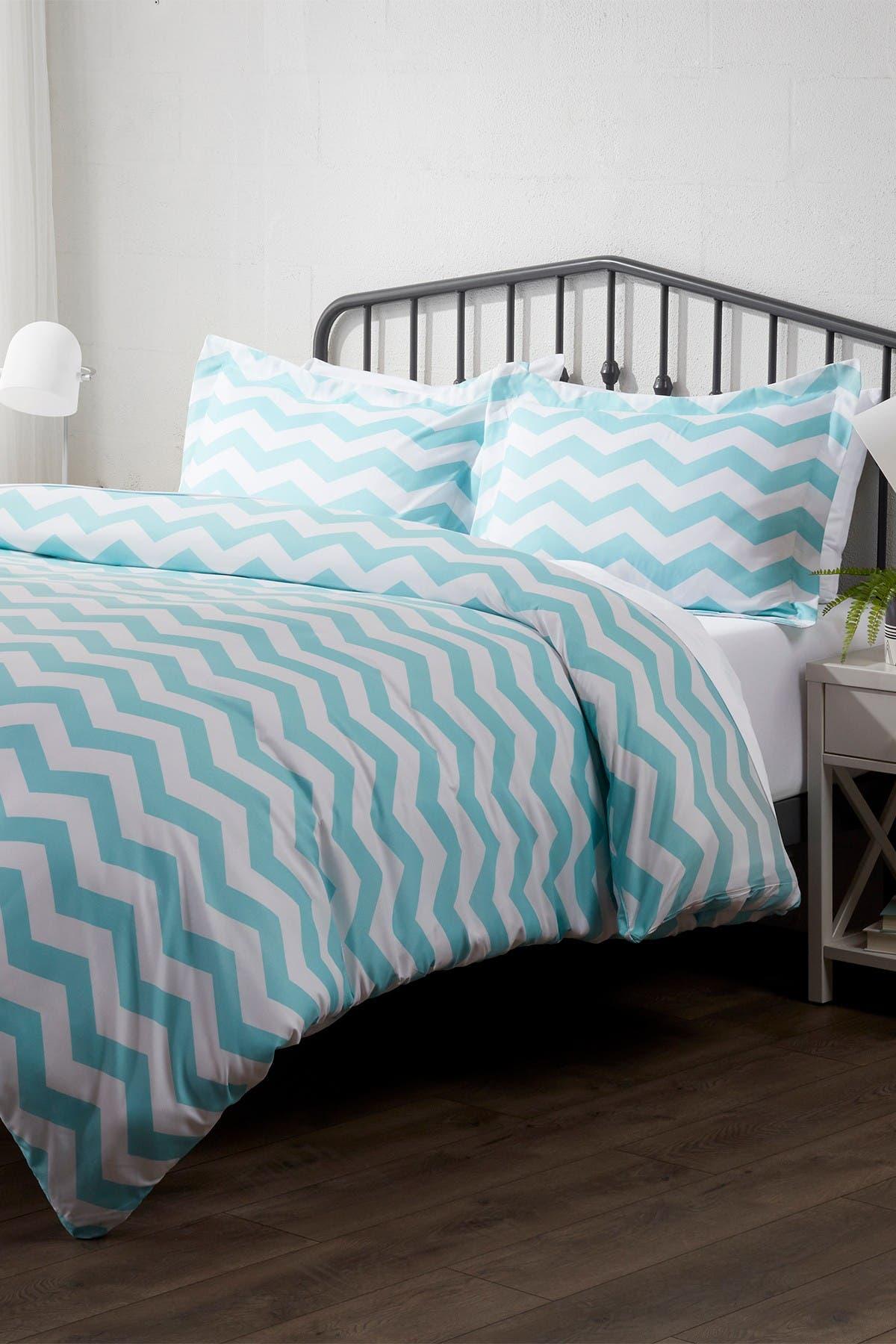 Image of IENJOY HOME Home Spun Premium Ultra Soft Arrow Pattern 3-Piece Queen Duvet Cover Set - Turquoise