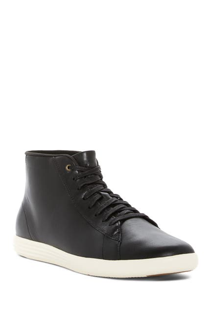 Image of Cole Haan Grand Crosscourt Leather High-Top Sneaker