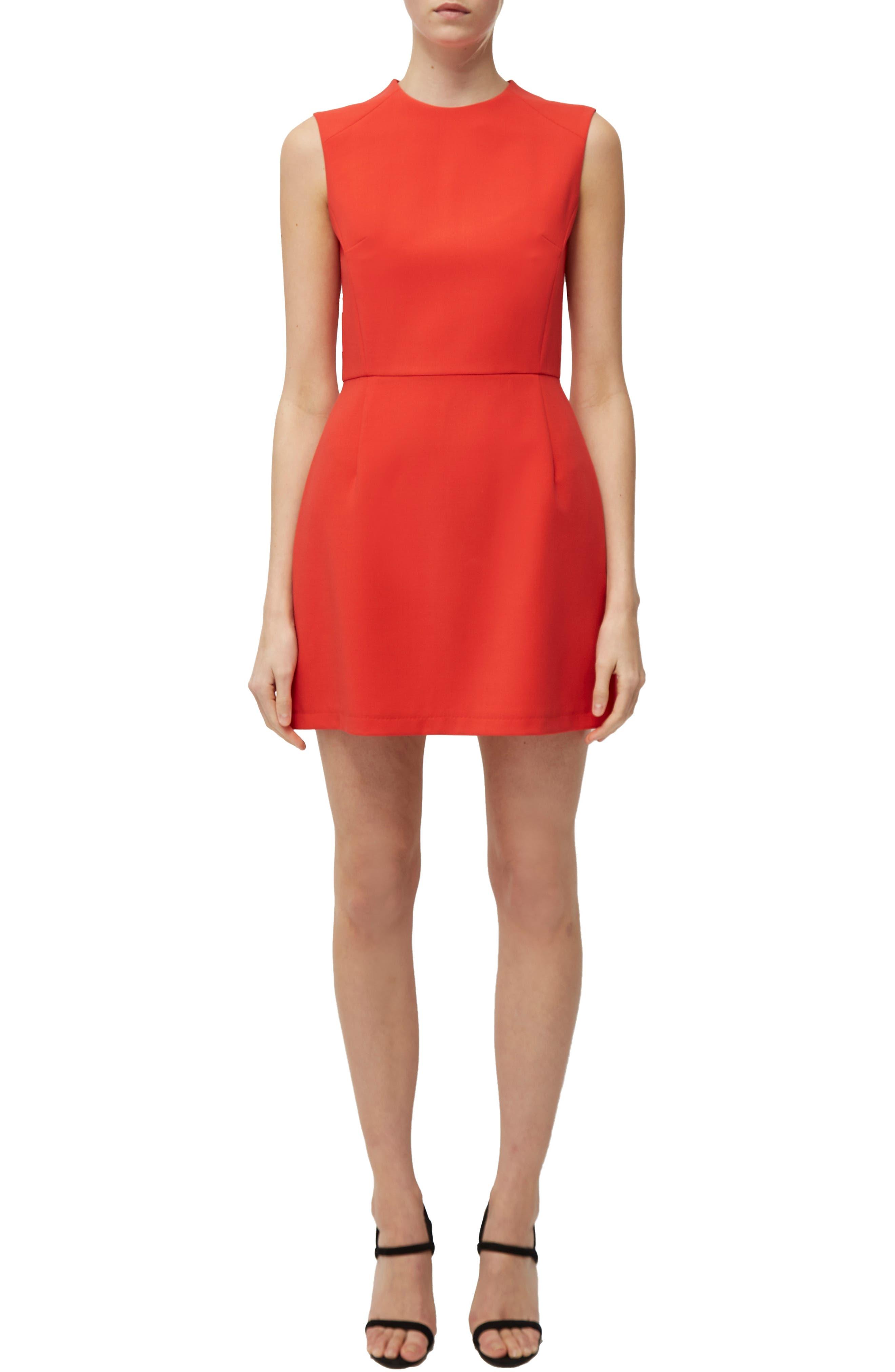 French Connection Sundae Stretch Minidress, Orange