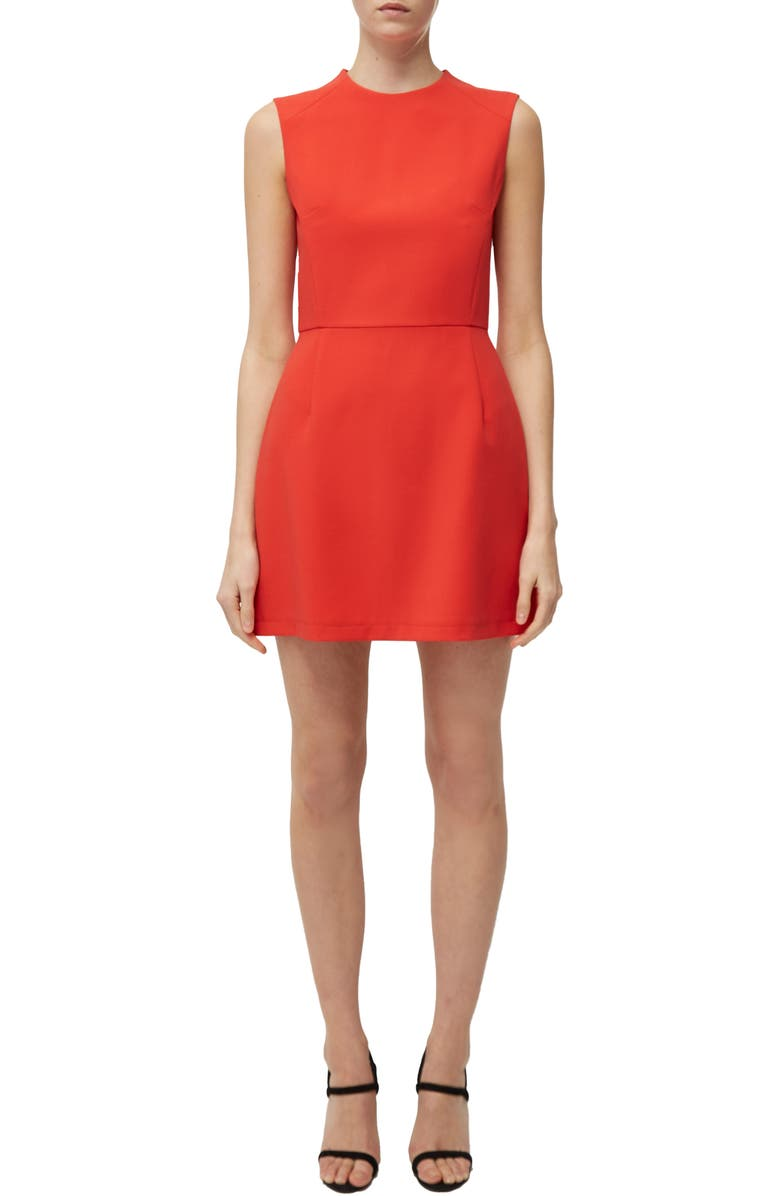 FRENCH CONNECTION Sundae Stretch Minidress, Main, color, FIRE CORAL