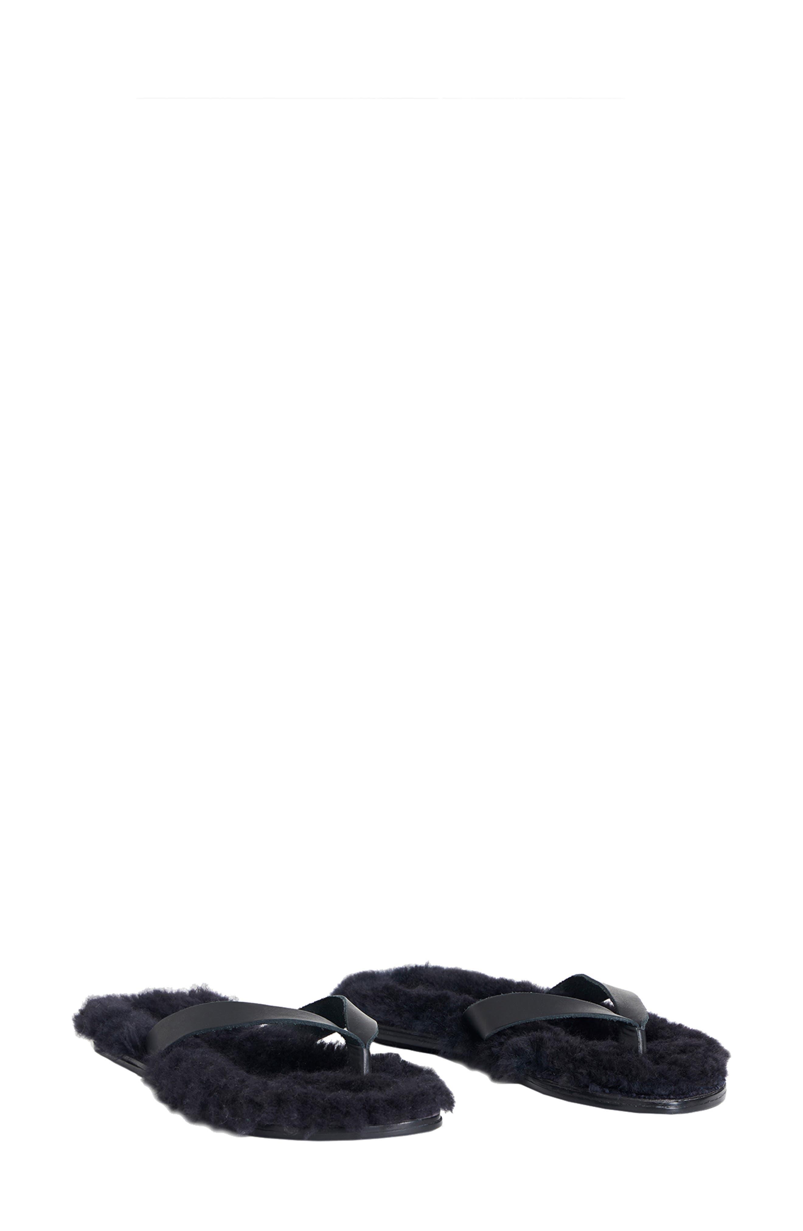 Tibi Bryan Genuine Shearling Flip Flop