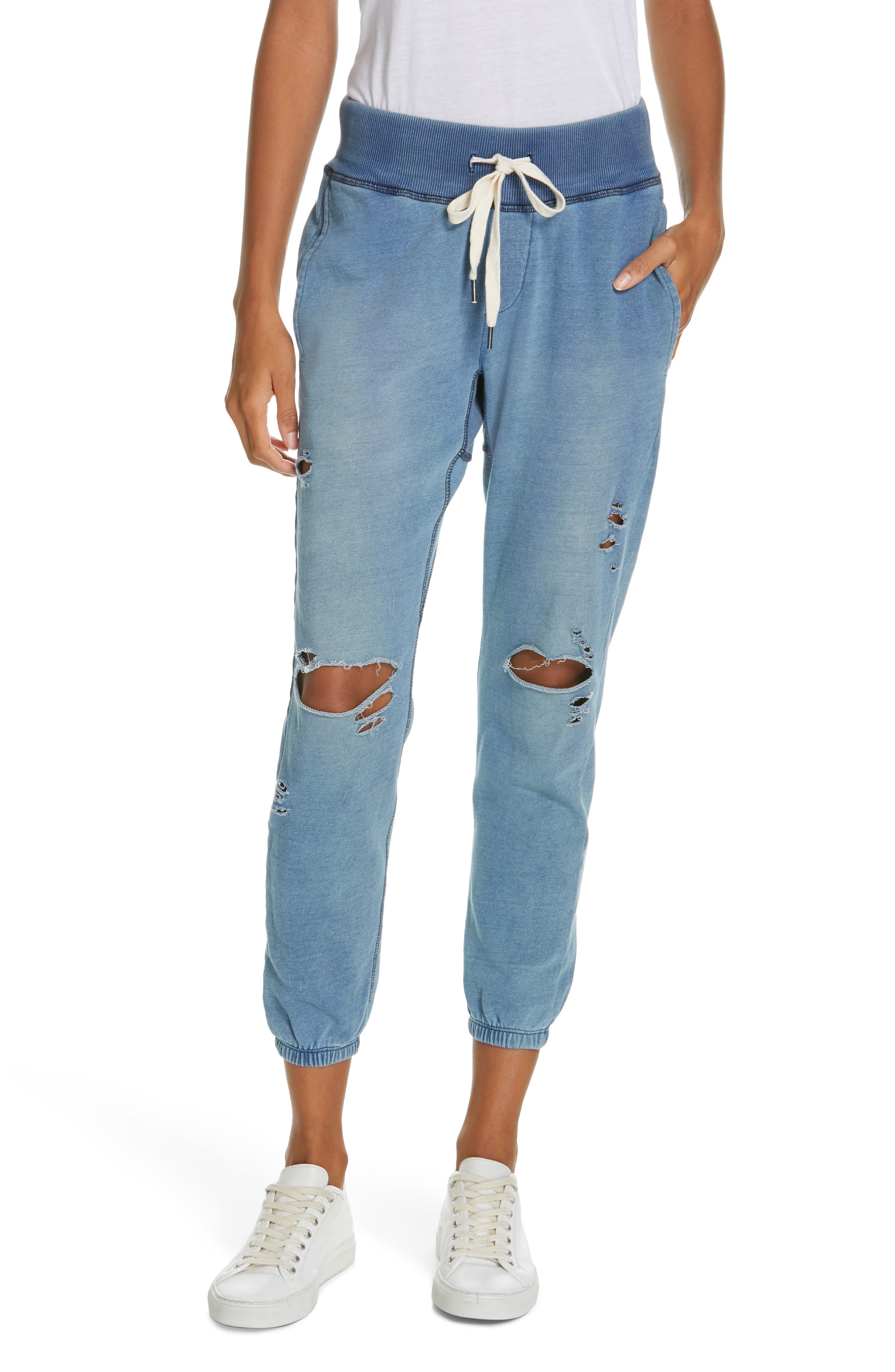 Nsf Clothing Sayde Sweatpants, Blue