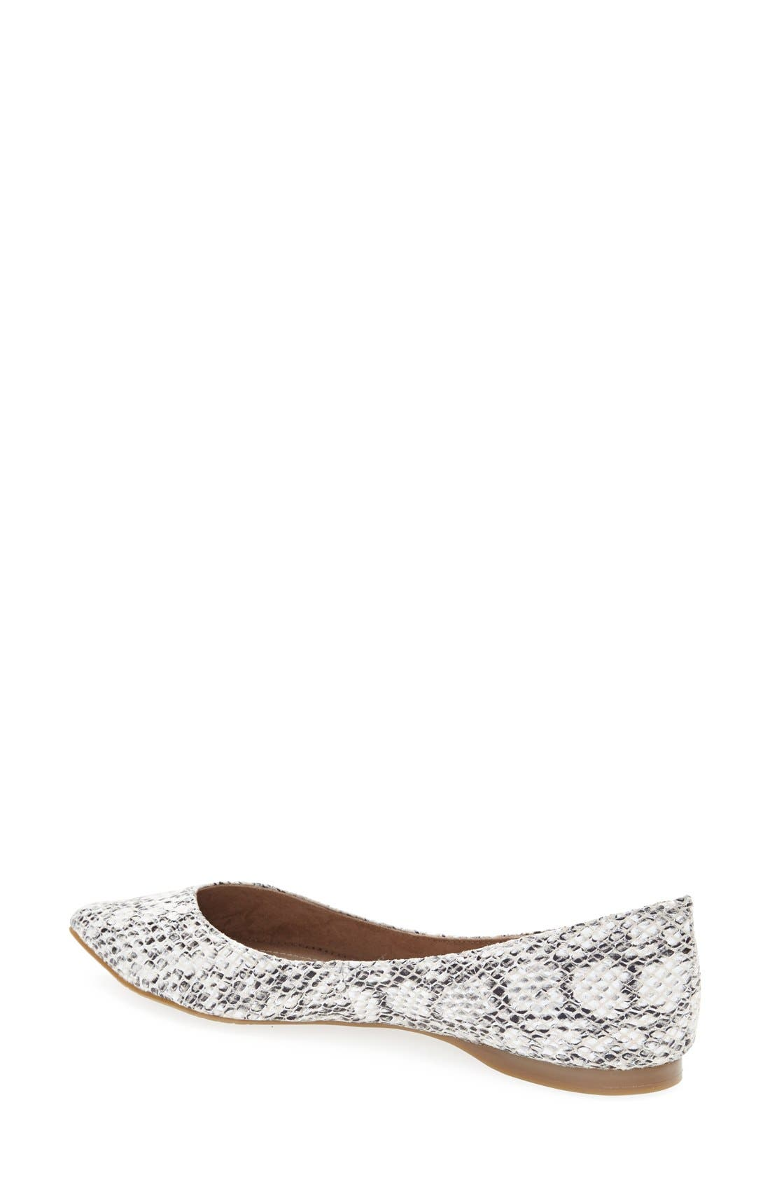 ,                             'Moveover' Pointy Toe Leather Flat,                             Alternate thumbnail 5, color,                             005