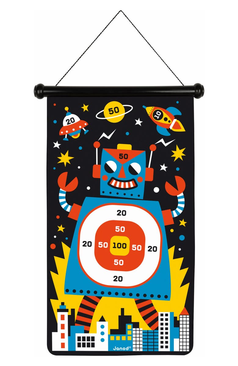 JANOD Robot Theme Magnetic Dartboard, Main, color, MULTI
