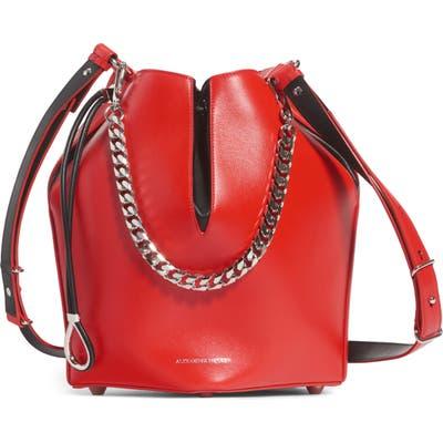 Alexander Mcqueen Leather Bucket Bag - Red