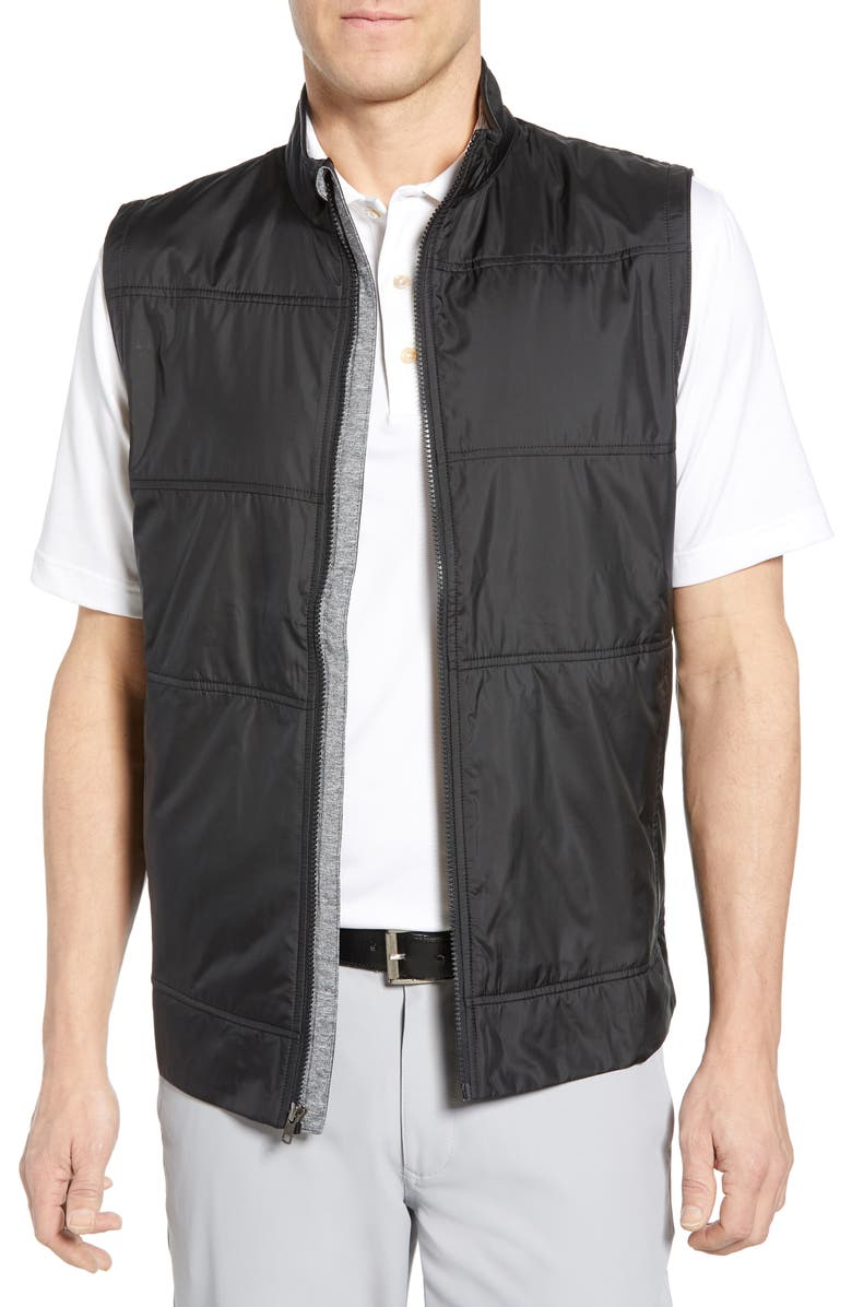 CUTTER & BUCK Stealth Quilted Vest, Main, color, 001