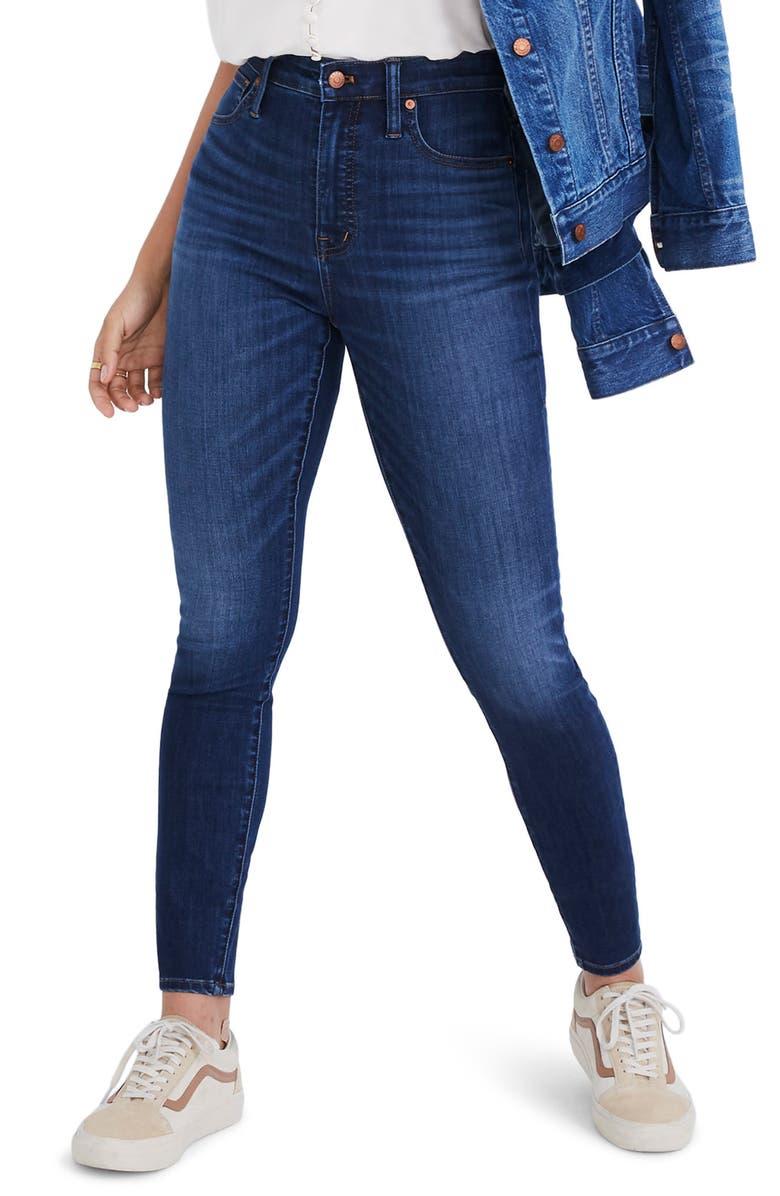 MADEWELL Curvy High Waist Skinny Jeans, Main, color, DANNY WASH