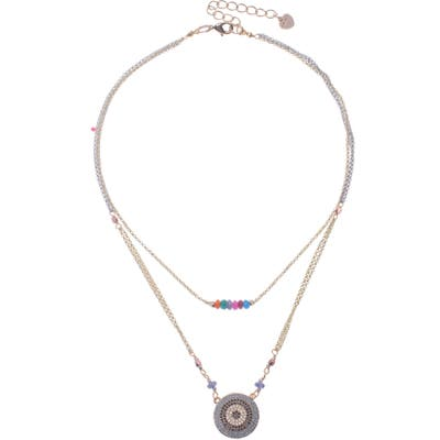 Nakamol Design Round Pendant Layered Necklace