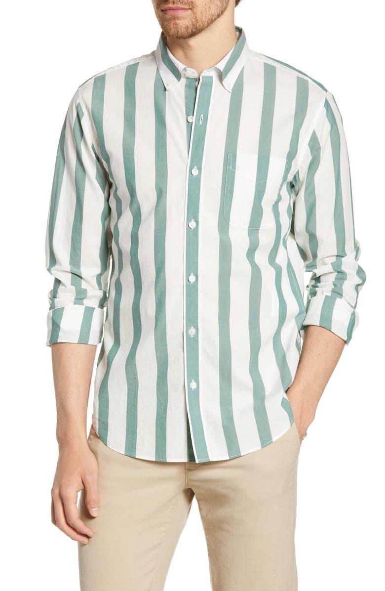 BONOBOS Summer Weight Stripe Slim Fit Shirt, Main, color, BREEZY STRIPE
