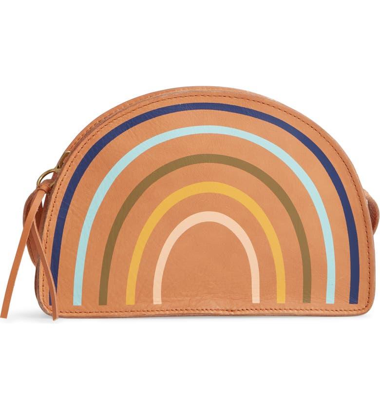 MADEWELL The Simple Half-Moon Rainbow Edition Leather Crossbody Bag, Main, color, 200