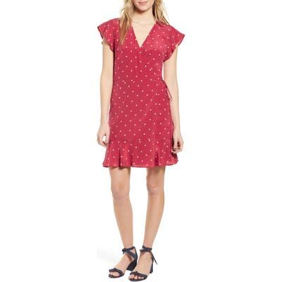 Rails Leanne Silk Wrap Dress, Red
