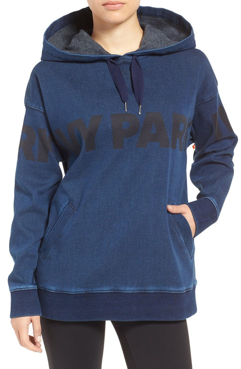 IVY PARK<SUP>®</SUP> Logo Denim Hoodie, Main, color, 400