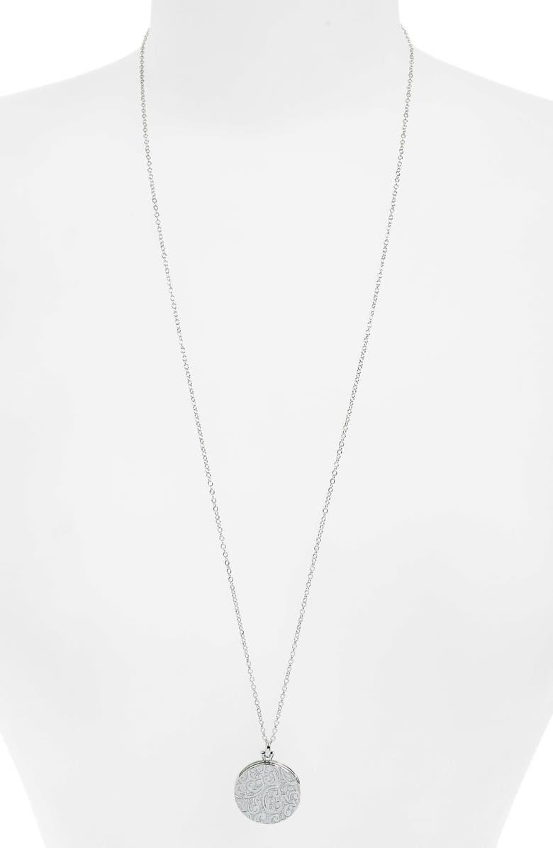 MONICA RICH KOSANN Round Floral Locket Necklace, Main, color, 040