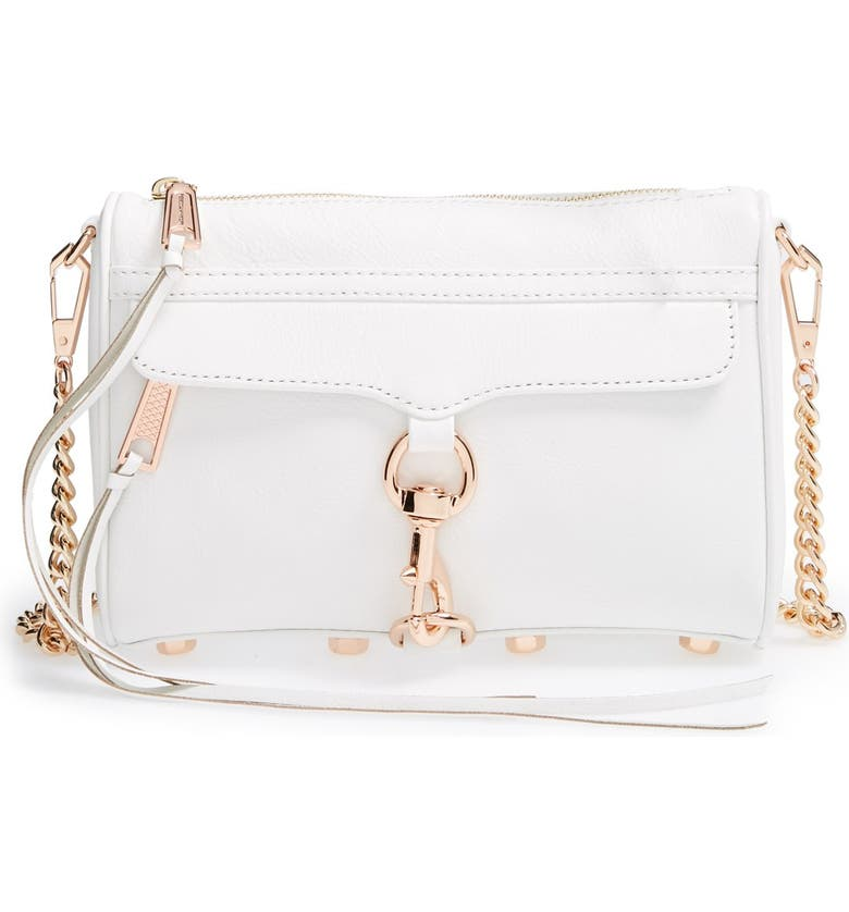 REBECCA MINKOFF 'Mini MAC' Convertible Crossbody Bag, Main, color, 100