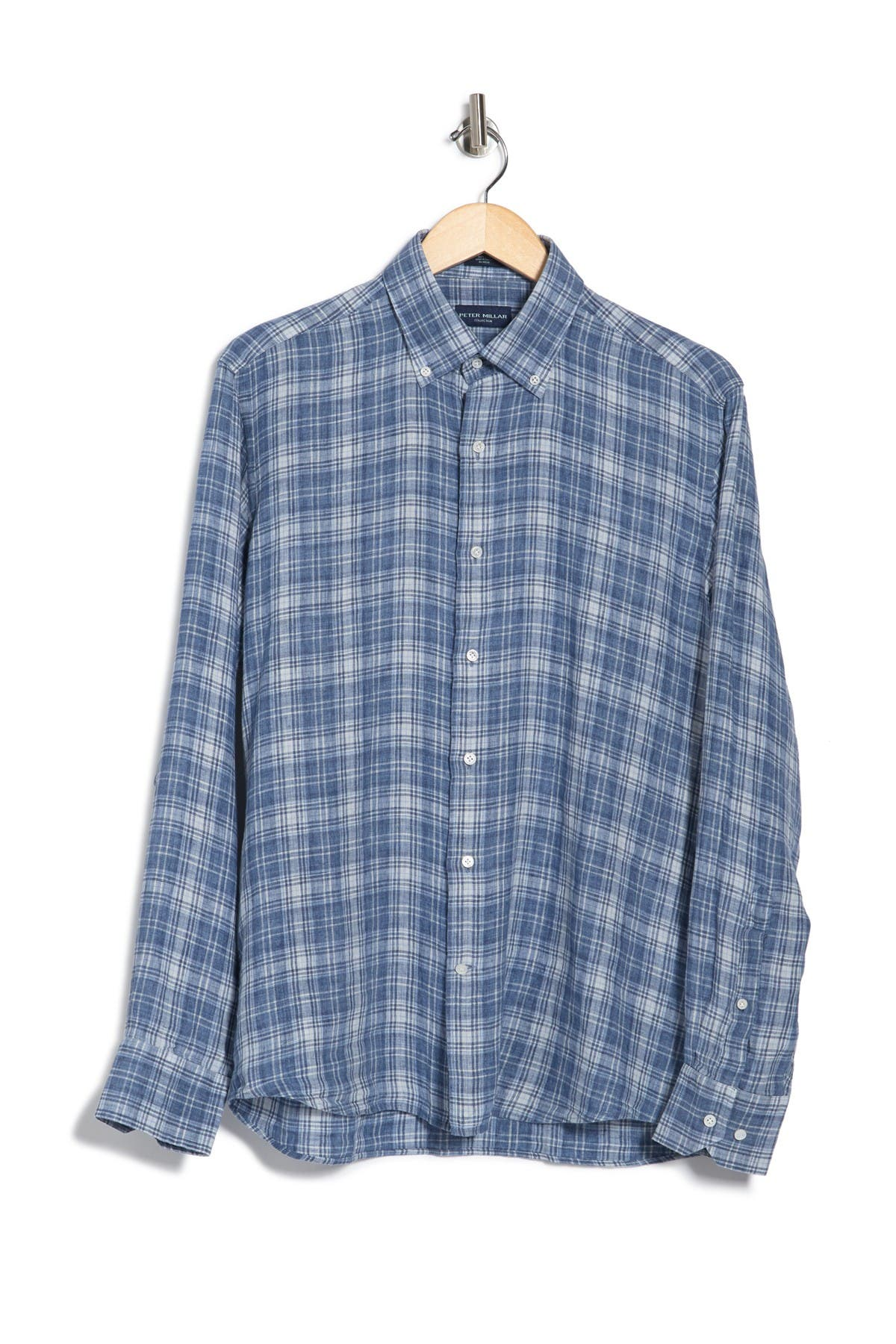 Image of Peter Millar Avignon Plaid Linen Shirt
