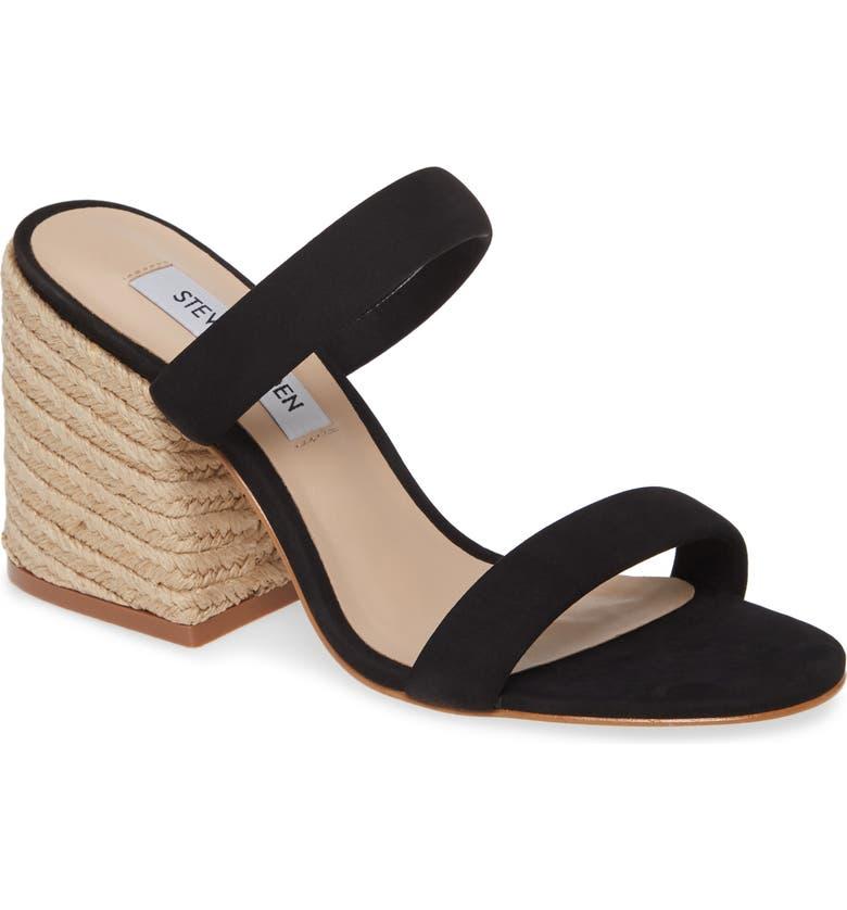 STEVE MADDEN Marcella Slide Sandal, Main, color, BLACK NUBUCK
