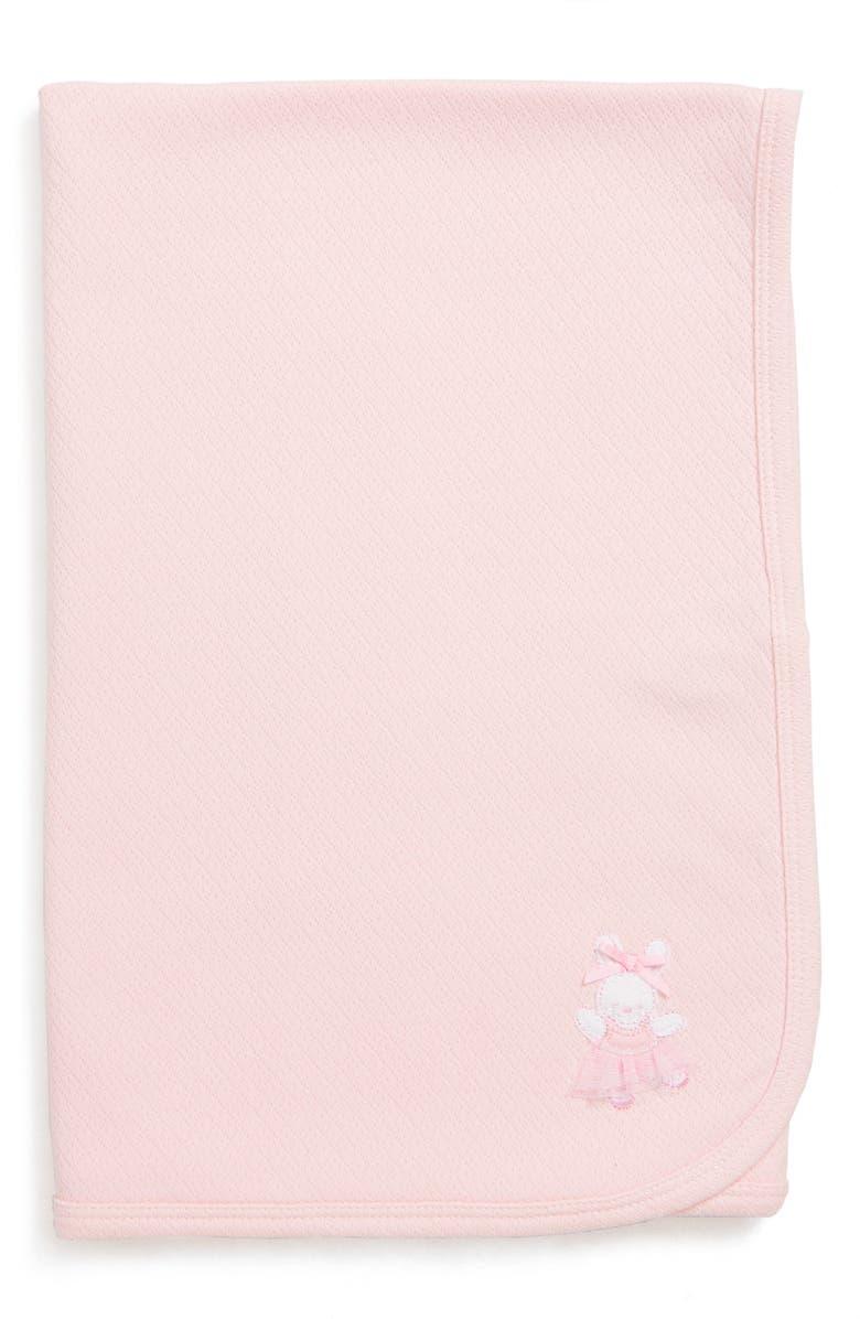 LITTLE ME Ballet Bunny Receiving Blanket, Main, color, LIGHT PINK