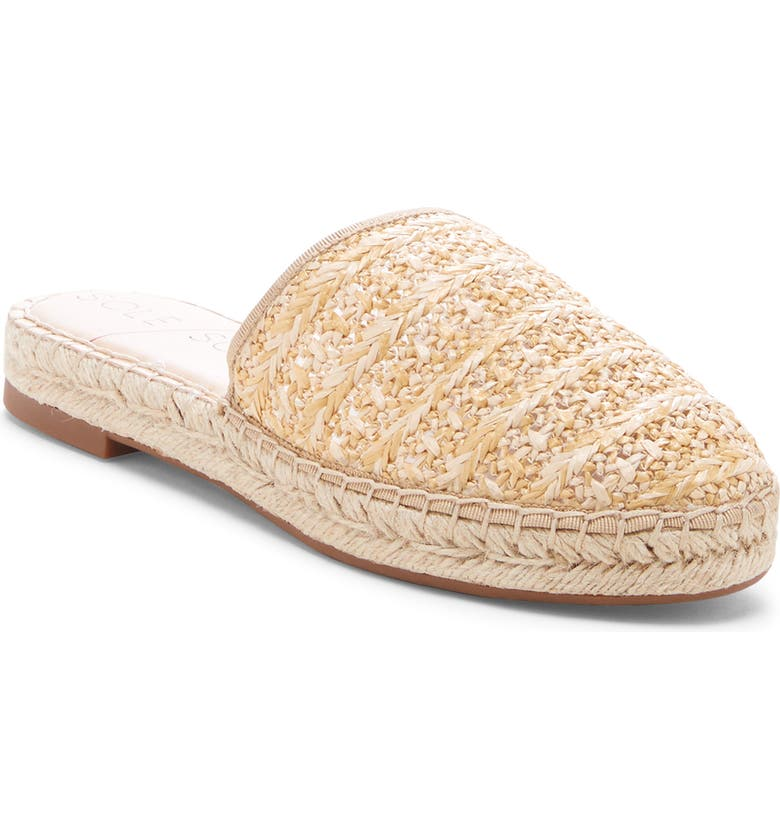 SOLE SOCIETY Sadelle Espadrille Mule, Main, color, NATURAL FABRIC