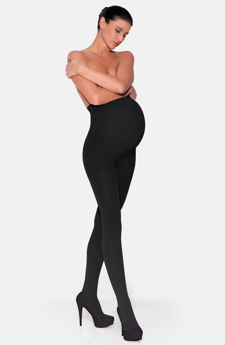 INSIGNIA BY SIGVARIS Graduated Compression Maternity Tights, Main, color, 001