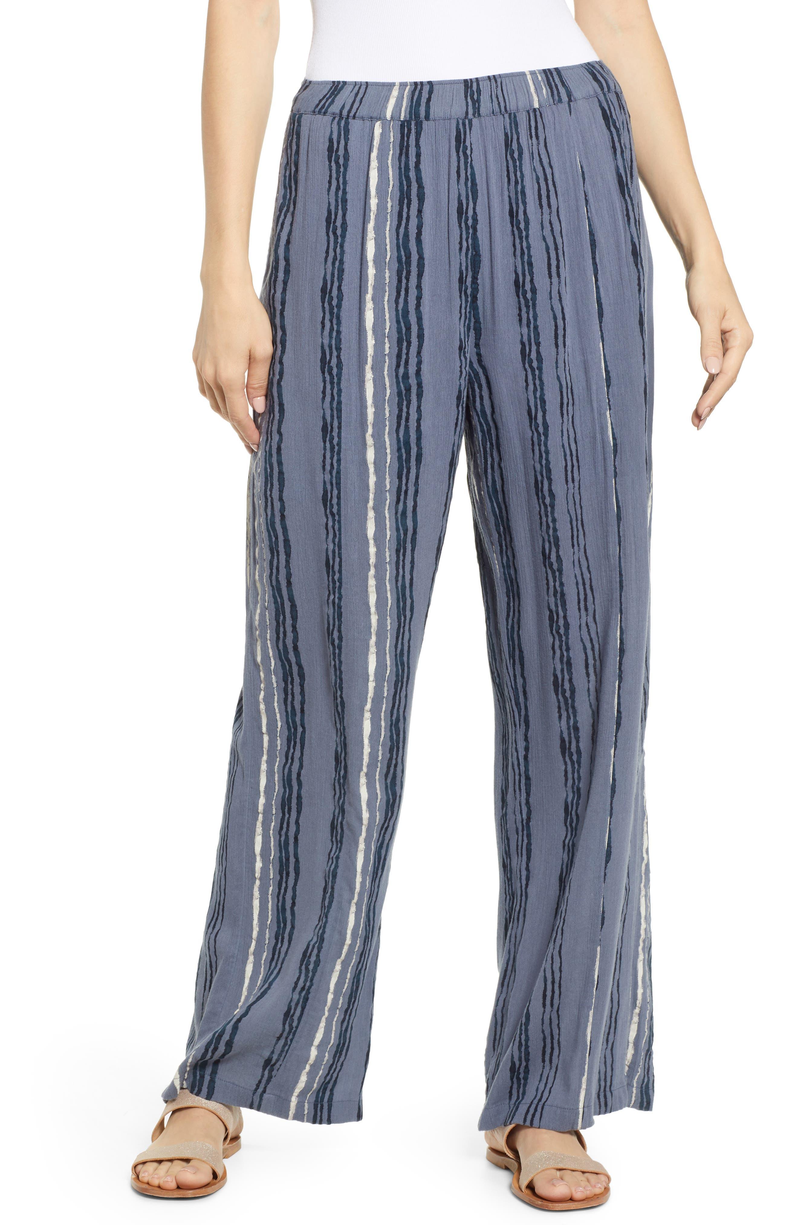 Women's Caslon Print Wide Leg Pants