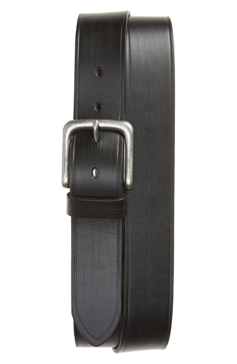 NORDSTROM MEN'S SHOP Woodward Textured Leather Belt, Main, color, BROWN EARTH