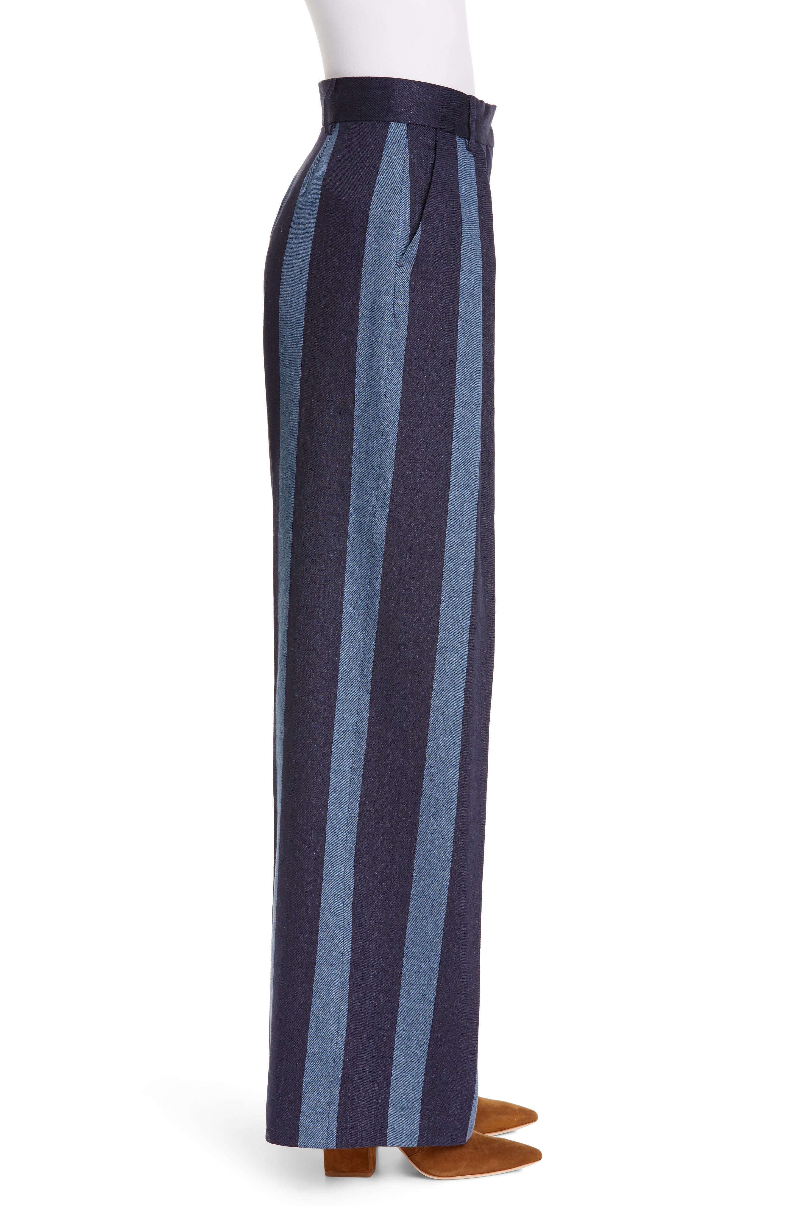 ,                             Stripe Denim Pants,                             Alternate thumbnail 4, color,                             STRIPED DENIM