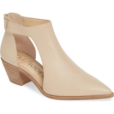Sole Society Lanette Pointy Toe Bootie, Ivory