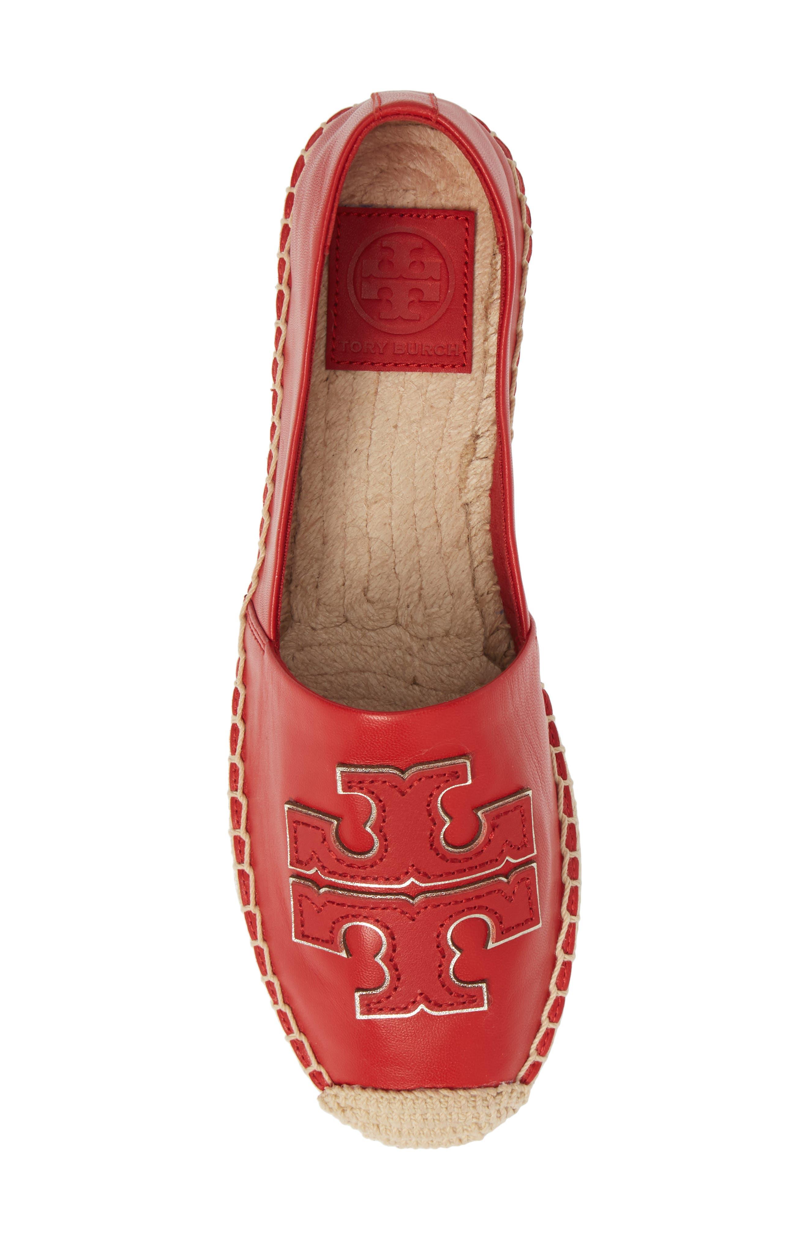 ,                             Ines Espadrille,                             Alternate thumbnail 5, color,                             BRILLIANT RED/ BRILLIANT RED