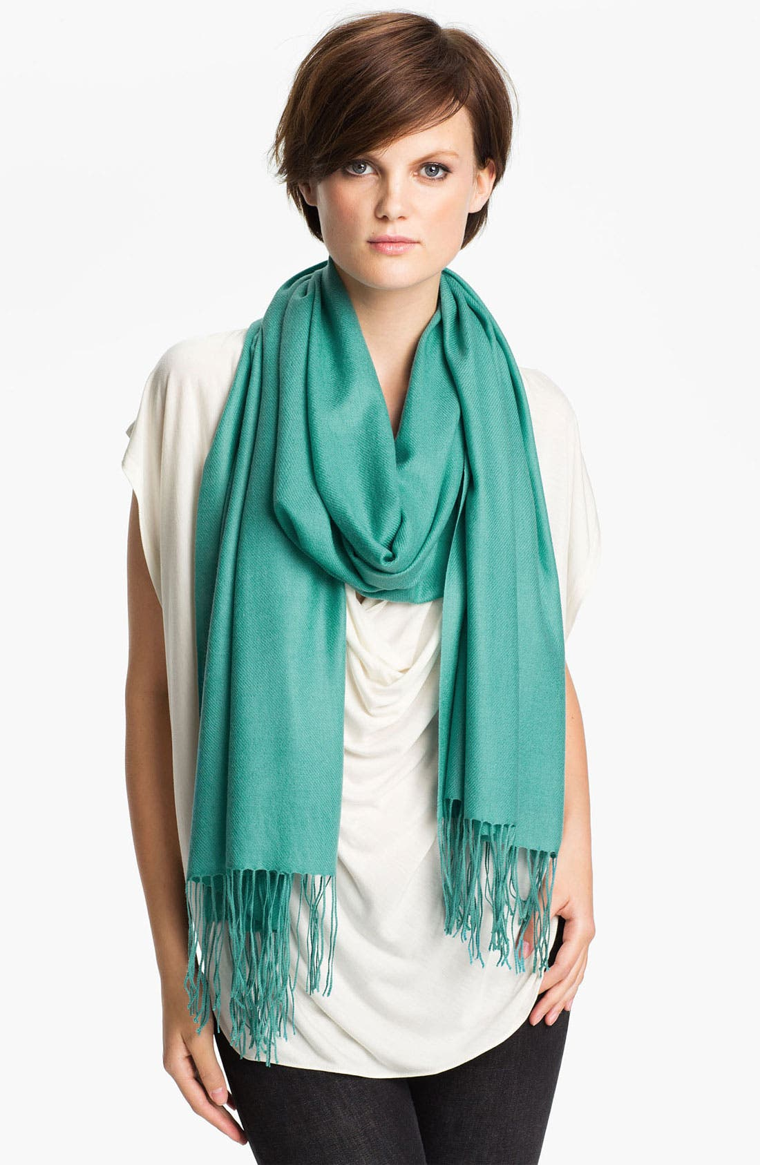 ,                             Tissue Weight Wool & Cashmere Wrap,                             Main thumbnail 90, color,                             444