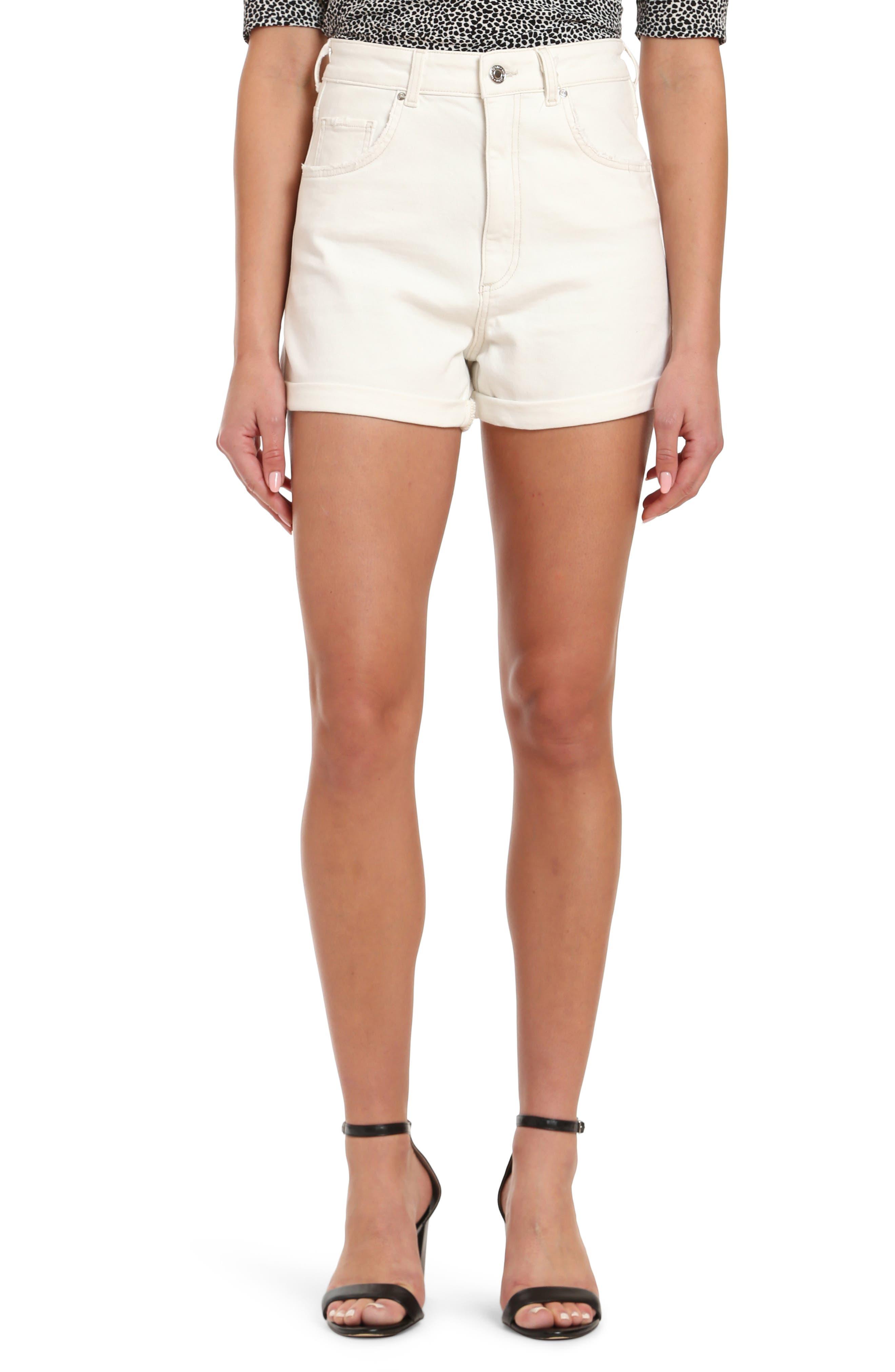 Clara High Waist Denim Shorts