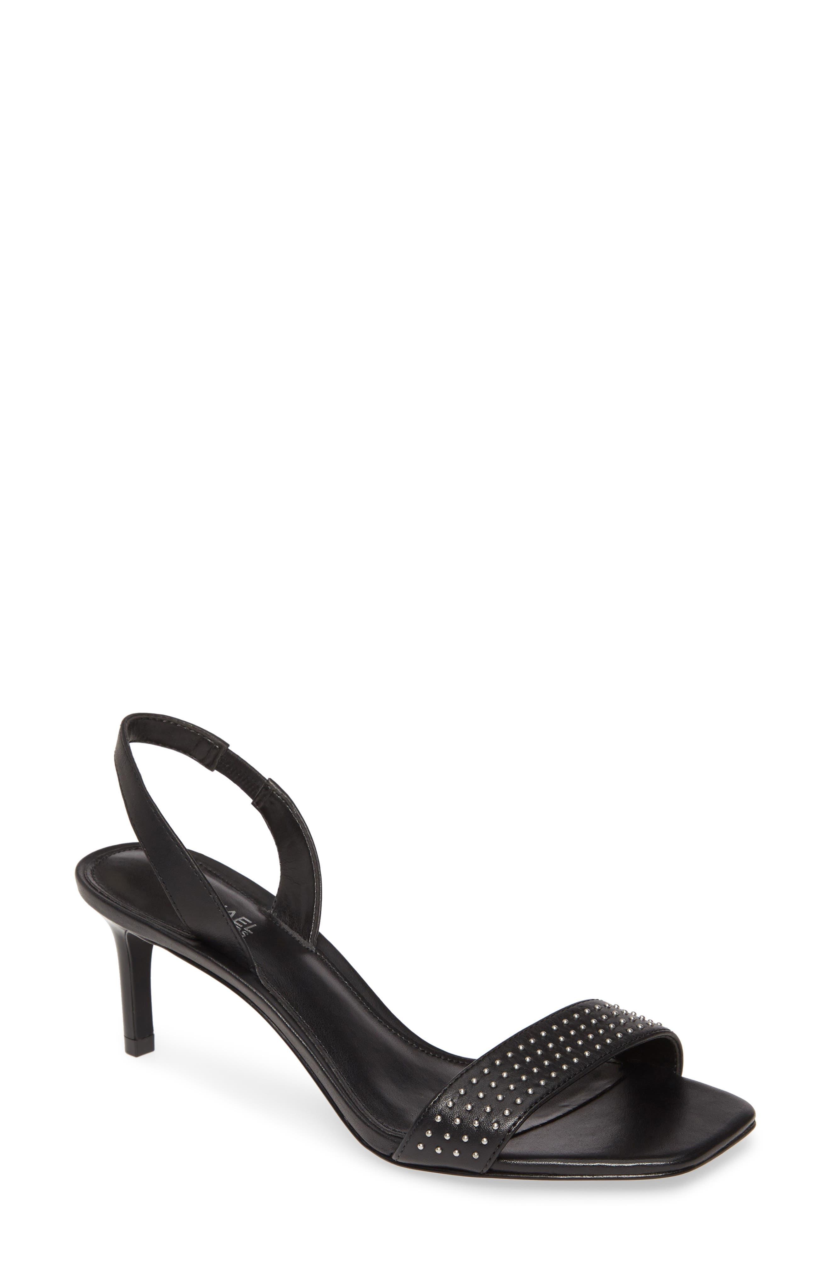 Mila Studded Leather Slingback Sandal