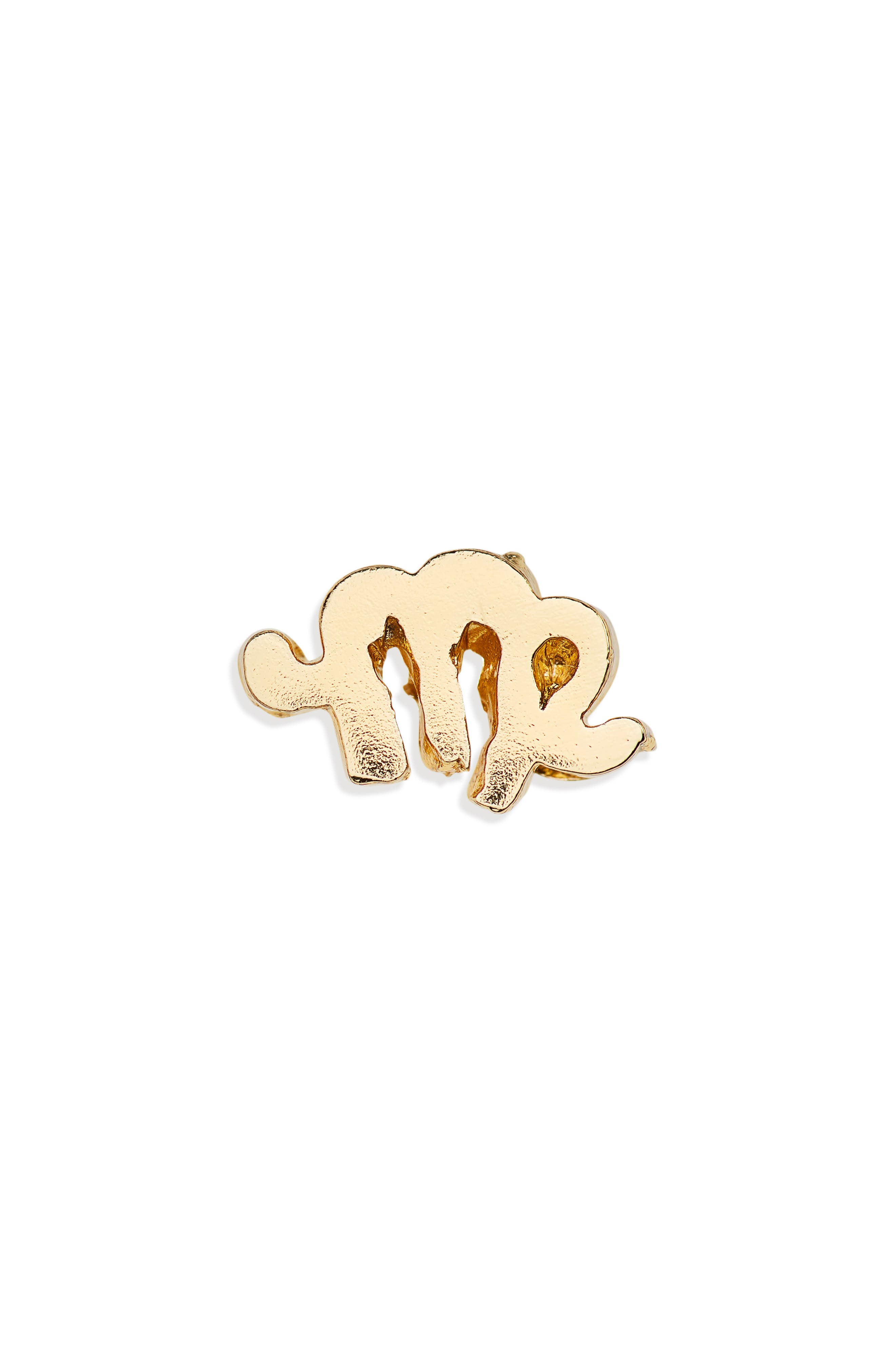 Tiny Zodiac Virgo Single Stud Earring