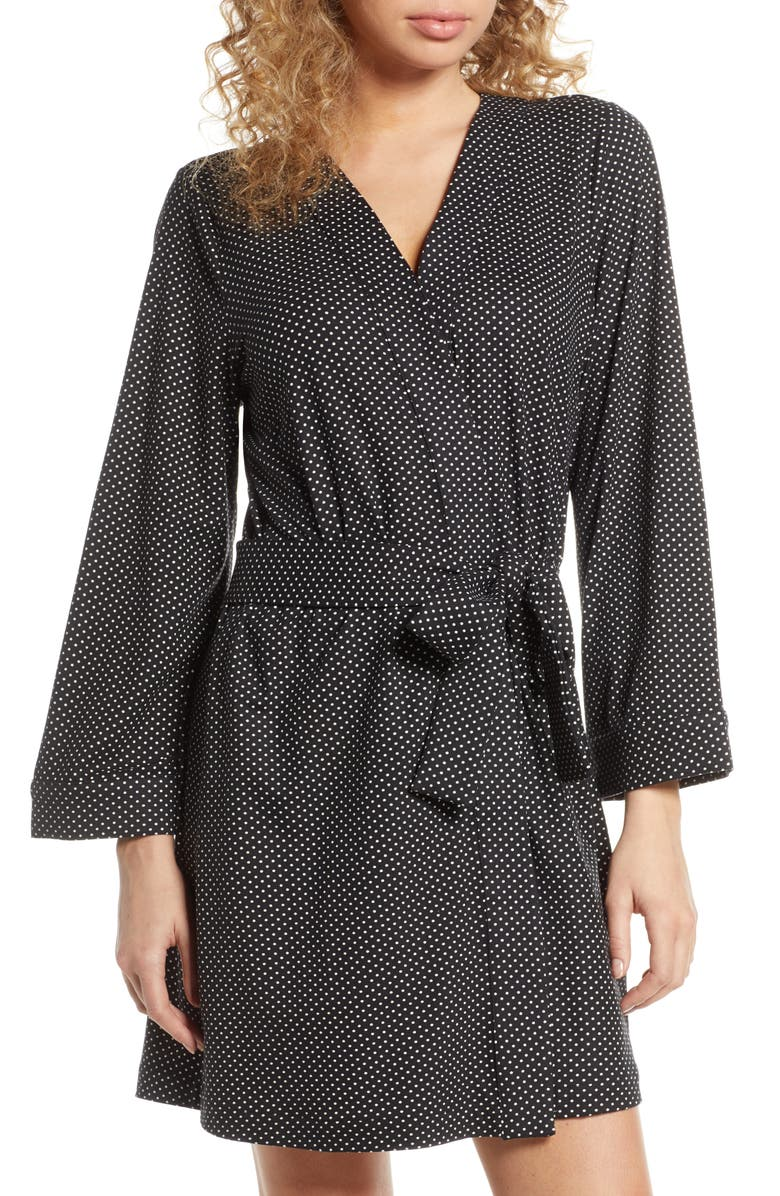 MASONGREY Claire Classic Short Robe, Main, color, DOTTY