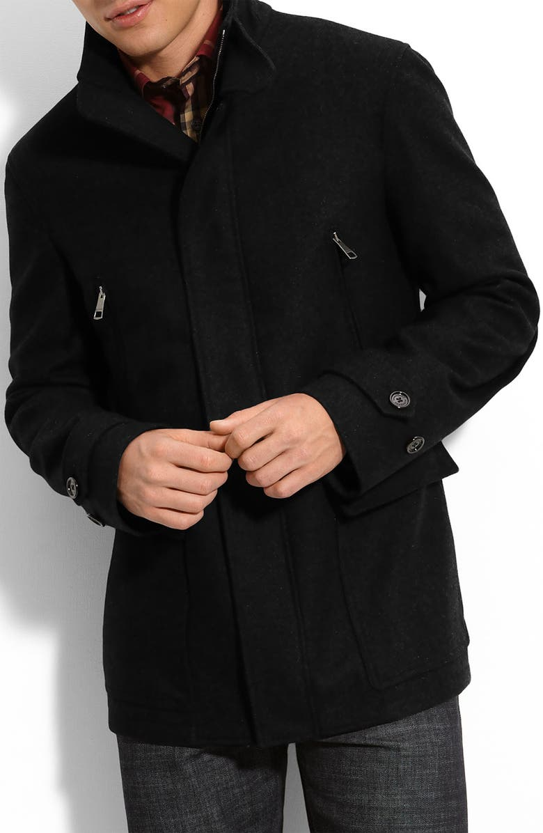 BURBERRY LONDON Wool Blend Jacket, Main, color, 001
