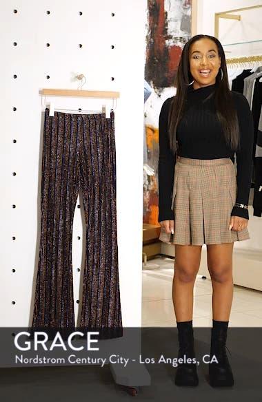 Glitter Stripe Flare Leg Pants, sales video thumbnail