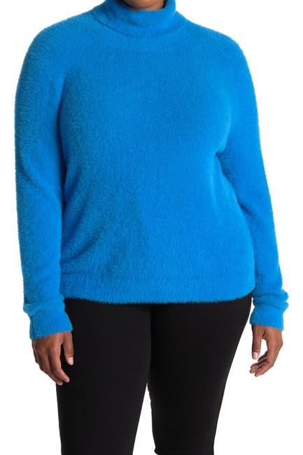 Image of Halogen Fuzzy Turtleneck Sweater