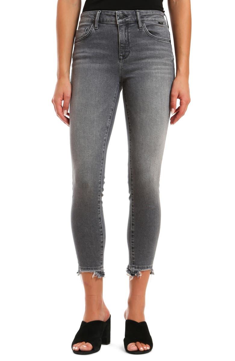 MAVI JEANS Tess High Waist Destroyed Released Hem Ankle Skinny Jeans, Main, color, 020