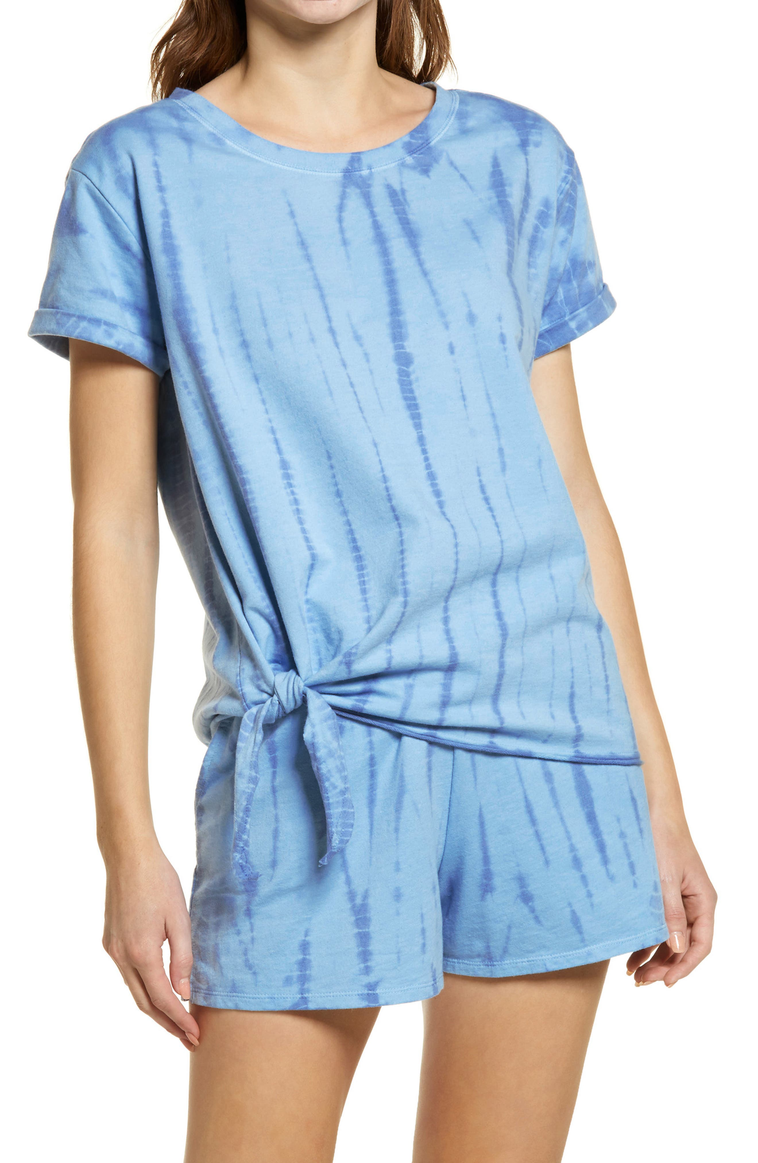 French Terry Side Tie T-Shirt