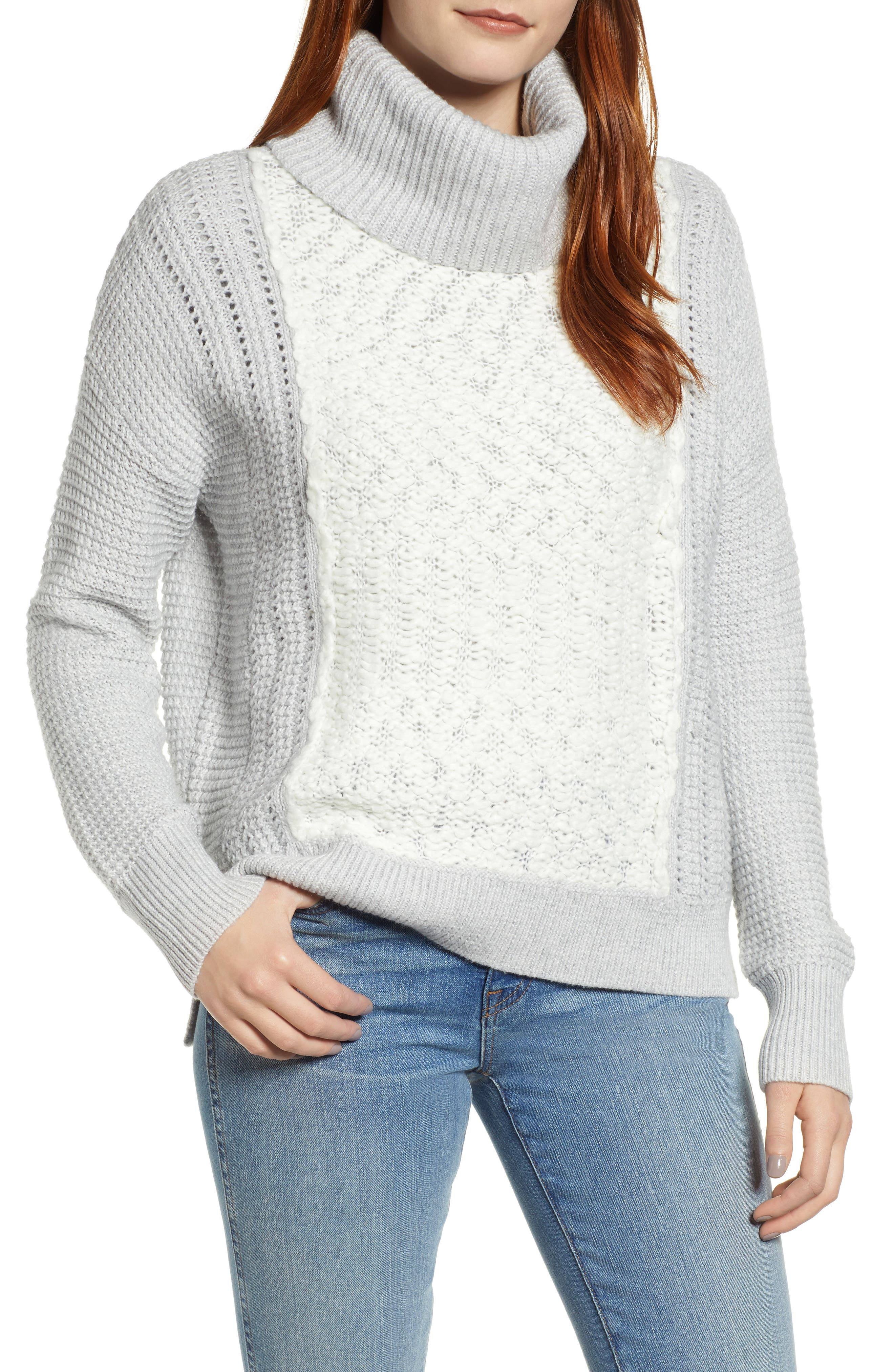 Image of Caslon Cowl Neck Boucle Sweater