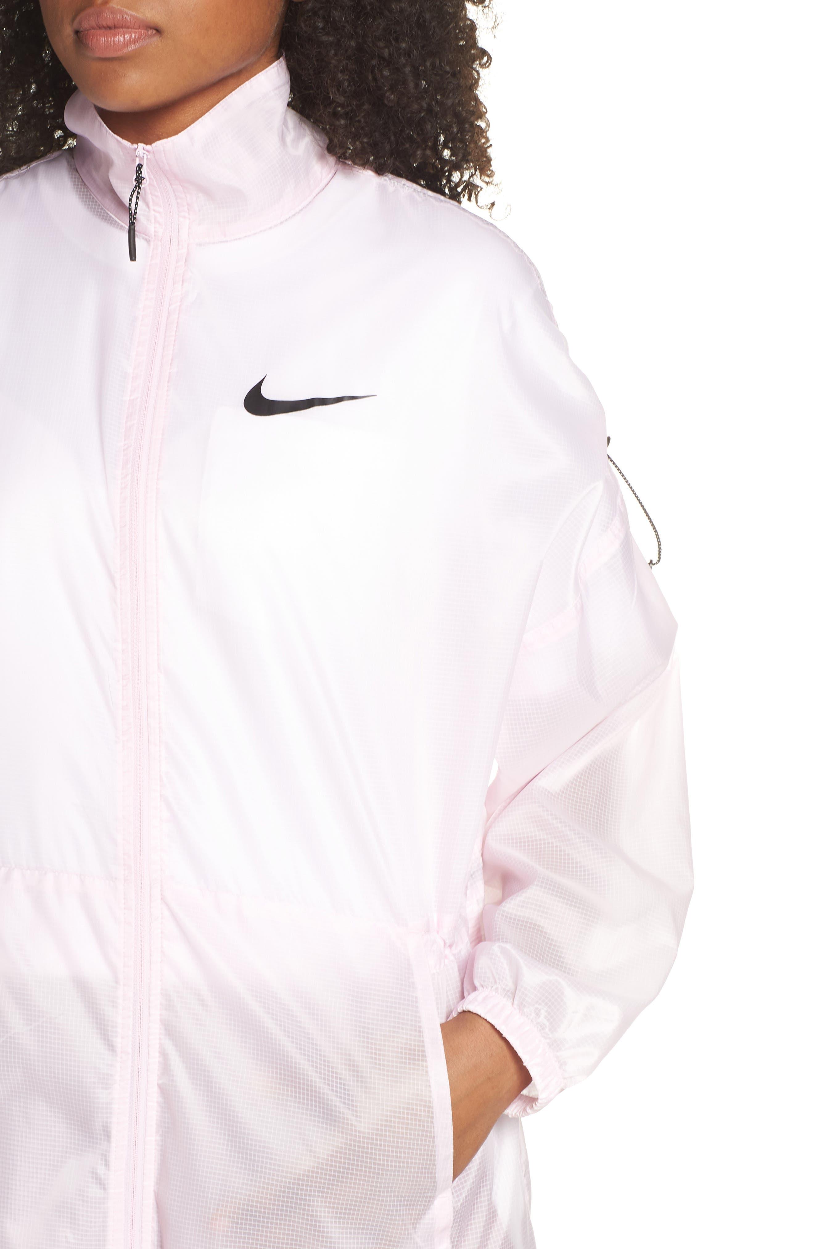 ,                             Sportswear Women's Woven Jacket,                             Alternate thumbnail 5, color,                             PINK FOAM/ BLACK