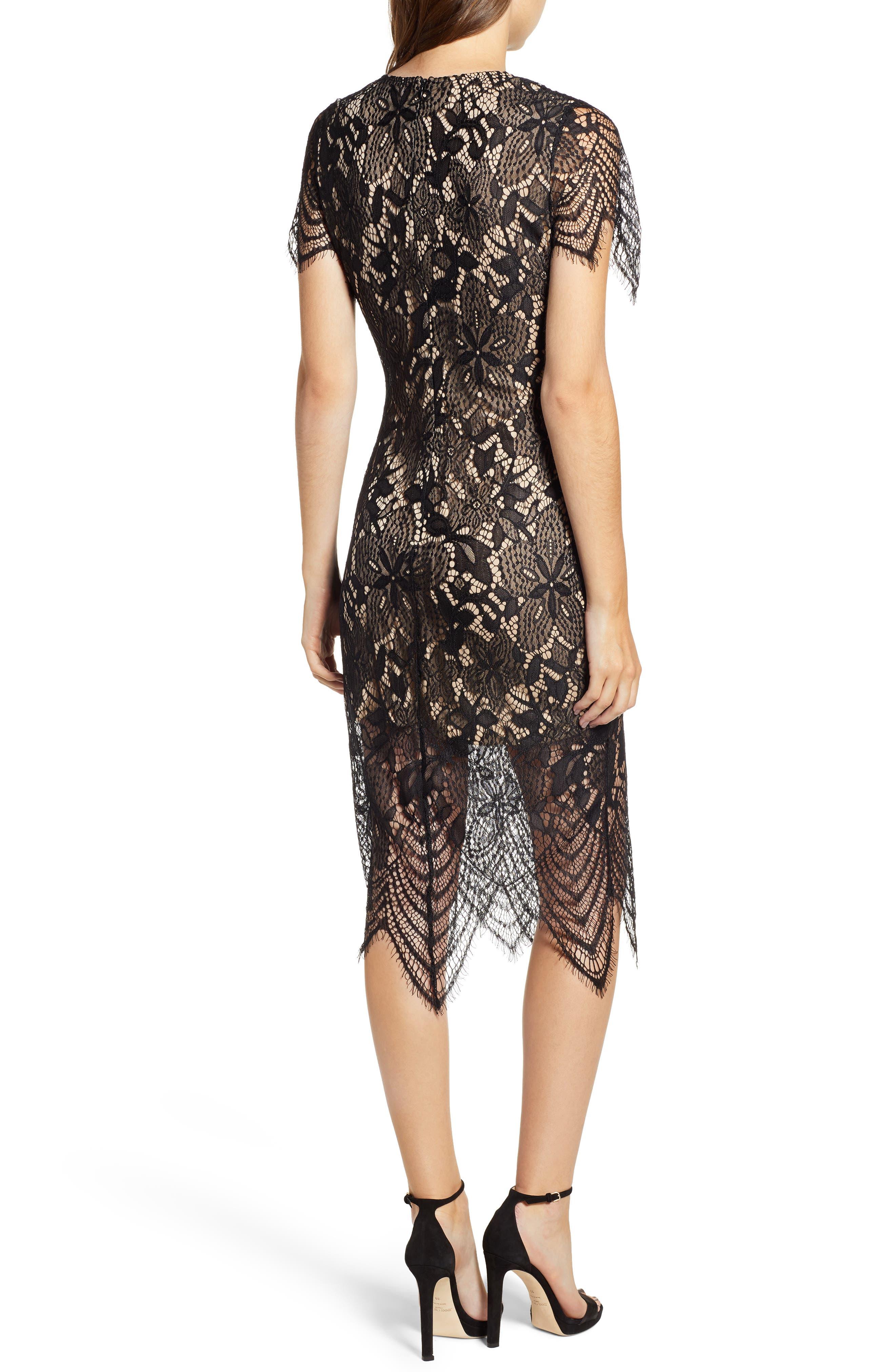 ,                             Scallop Lace Dress,                             Alternate thumbnail 2, color,                             001