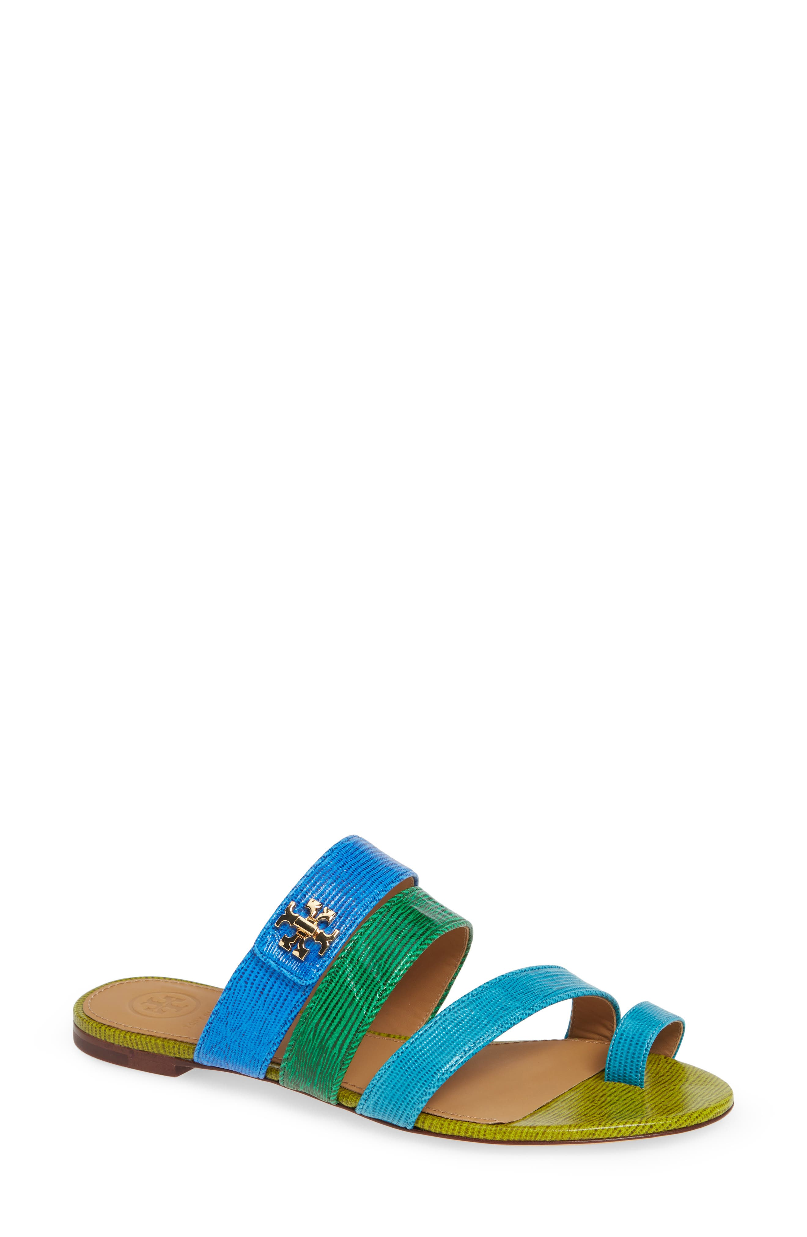 Tory Burch Kira Toe Ring Sandal- Blue
