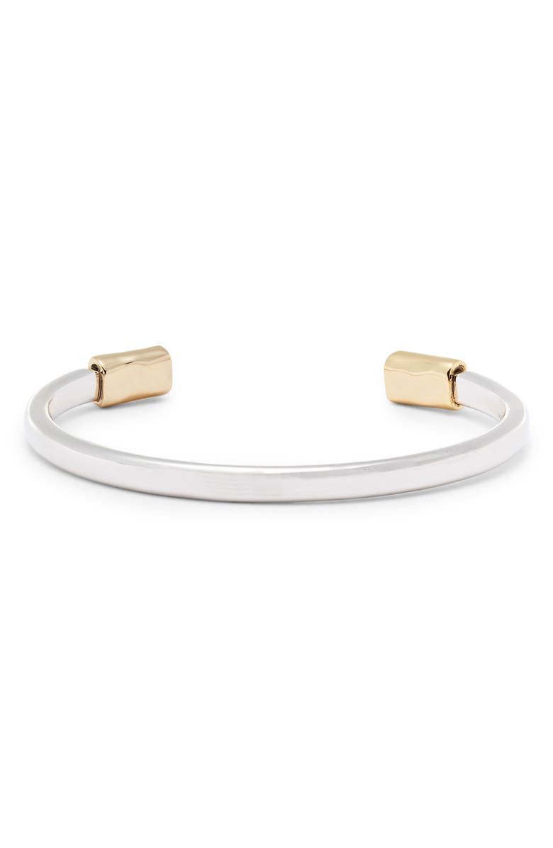 ALLSAINTS Mixed Metallic Cuff, Main, color, SILVER/ GOLD